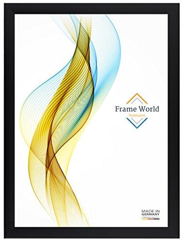 Frame World Cadre Photo FW35 pour 80 cm x 110 cm Photos, Couleur: Noir Mat, avec Verre Acrylique antireflet, Profil de Largeur 35mm, Dimensions extérieures: 85,6 cm x 115,6 cm
