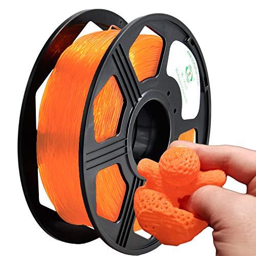 YOYI Filamento TPU 1.75mm,TPU Flexible Filament,Impresora 3D Filamento, Precisión Dimensional +/- 0.02 mm(Naranja)
