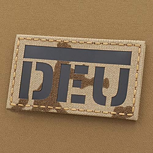 Tropentarn IR Bundeswehr Germany Flag DEU Deutschland Flagge 2x3.5 Desert Flecktarn Infrared IFF Tactical Morale Hook&Loop Patch