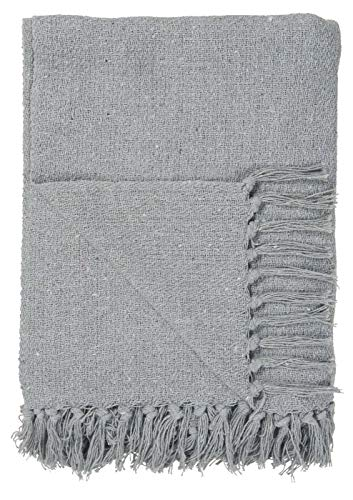 IB Laursen - Plaid/Decke - Hellblau - 100% Baumwolle - B: 130 L: 160