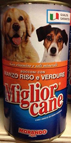 N. 15 SCATOLETTE BOCCONCINI DA GR 1250 CD. MIGLIOR CANE MANZO RISO E VERDURE