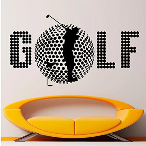 Pegatina de vinilo para pared de golf, calcomanías de pared de jugador de golf Spotr, decoración Interior de juego, póster de decoración de dormitorio de atletas extraíbles para el hogar, 58X32 CM