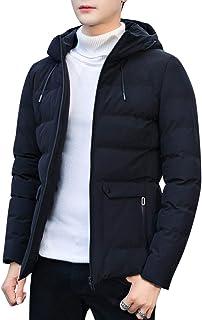 Disi ダウンコート メンズ ダウンジャケット 大きいサイズ 中綿 フード付き 無地 カジュアル ビジネス 厚手 防寒 秋冬