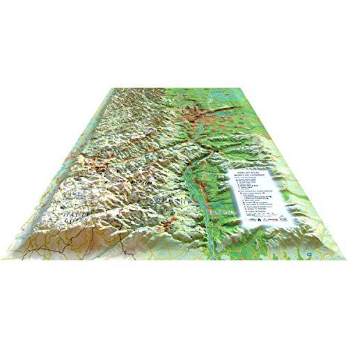 Carte en Relief du Parc du Pilat - Monts du Lyonnais