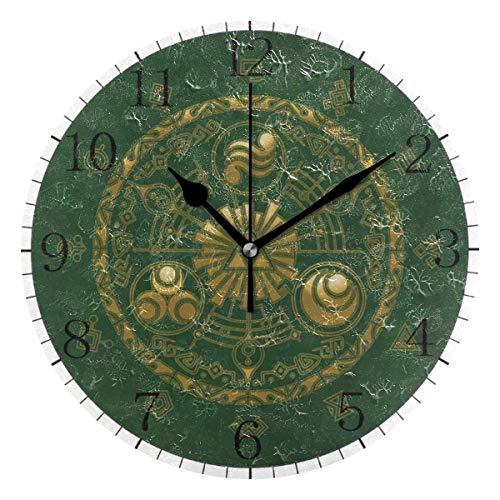yongxing The Legend of Zelda (20) - Reloj de pared de estilo redondo, silencioso, sin tictac, funciona con pilas, decoración de arte (10 pulgadas)