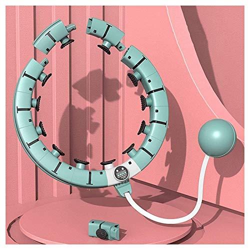Olz Aro de Hula Inteligente con aro Giratorio automático, aro de 360 Grados, Masaje sin caída con Bola de Gravedad Suave para Adultos, Cintura Delgada para Entrenamiento en casa