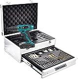 Taladro atornillador inalámbrico – Batería de litio 14,4 V incluida + 314 accesorios/maletín de aluminio