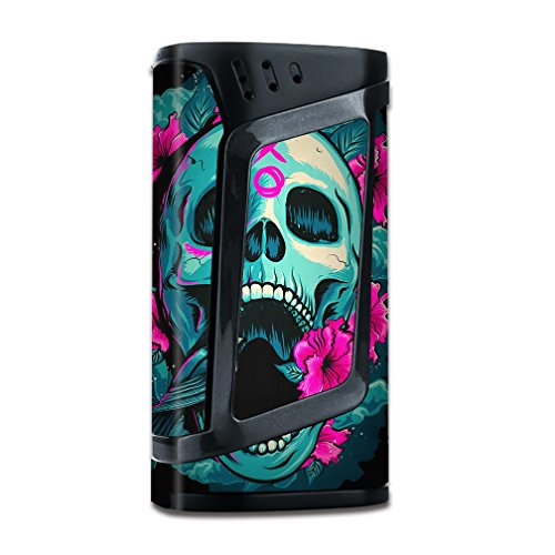 Skin Decal Vinyl Wrap for Smok Alien 220w TC Vape Mod stickers skins cover/ Skull Dia De Los Muertos Design Bird