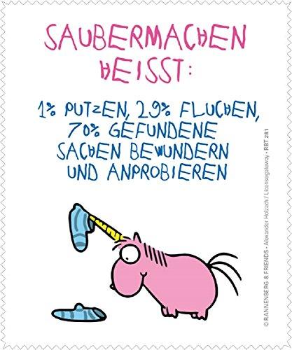 Rannenberg & Friends Reinigungstuch Brillenputztuch Einhorn: Saubermachen heißt. Microfasertuch Reinigungstücher Brillenputztücher Tücher Einhörner