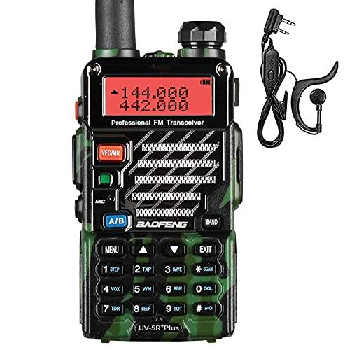 Baofeng uv 5rplus dual band vhf/uhf 2 m/70 cm de jamón walkie talkie.