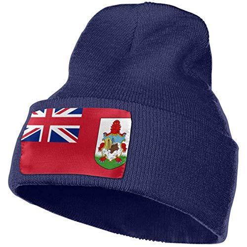Gorros de Punto Bandera de Bermudas Gorro Slouch Beanie de Fino para Hombres Mujeres Sombrero de Invierno de Punto Gorro