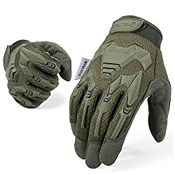 WTACTICAL Rubber Guard Protective Full Finger Tactical Gloves