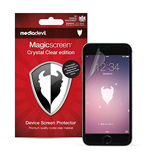 MediaDevil Pellicola Protettiva per iPhone 6 e iPhone 6S - Crystal Clear (Invisibile) - (2-Pezzi)