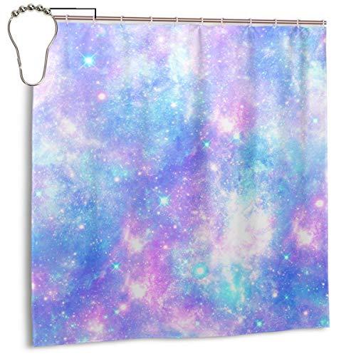 xiaolang Galaxy Mermaid Pink Blue Magical Star Unicorn Pattern Cosmic Universe Cosmos Fantasy, Decoración del hogar Cortina de Ducha 72inX72in