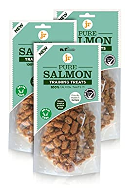100% Pure dried fresh Salmon Training Treats for dogs (3 x 85g)
