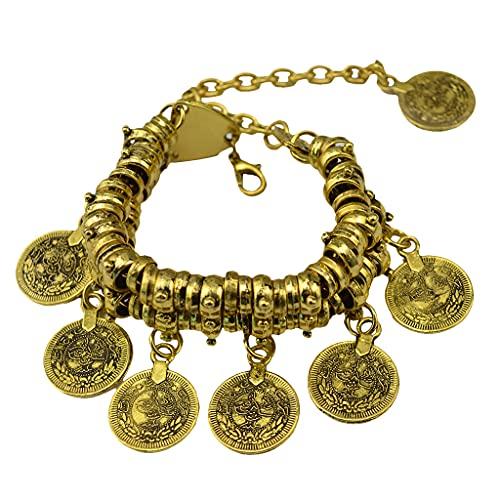 NC NC Pulsera de Capas Y Cadena de Los Anklets con Monedas Talladas de Estilo...