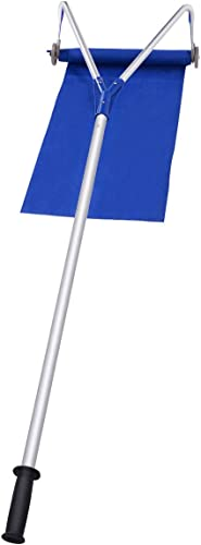 Goplus Roof Snow Rake Removal Tool 20 ft with Adjustable Telescoping Handle and Wheels
