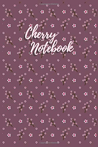 cherry notebook moleskine sakura japanese writing and sketching journal for bag and laptop cover with unlined and empty pages: culture travel memory ... notsbook for women men boys girls 90 pages
