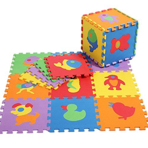 La Vogue Tapis de Puzzle Animaux En Mousse Anti-dérapant Antichoc Jeu Apprendre Imagination Pour Bébé Taille 30*30*1CM