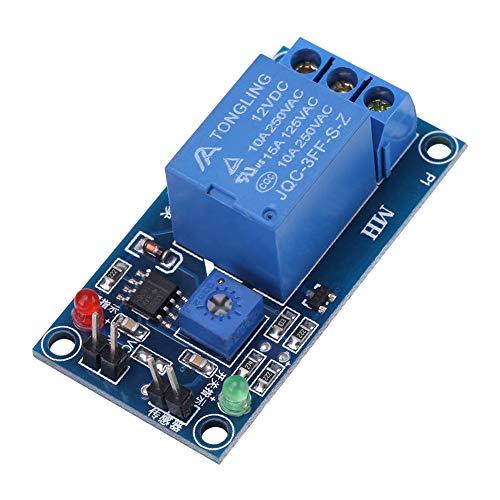 Ruspela Módulo controlador de gotas de lluvia de 12 V con hojas, sensor de humedad
