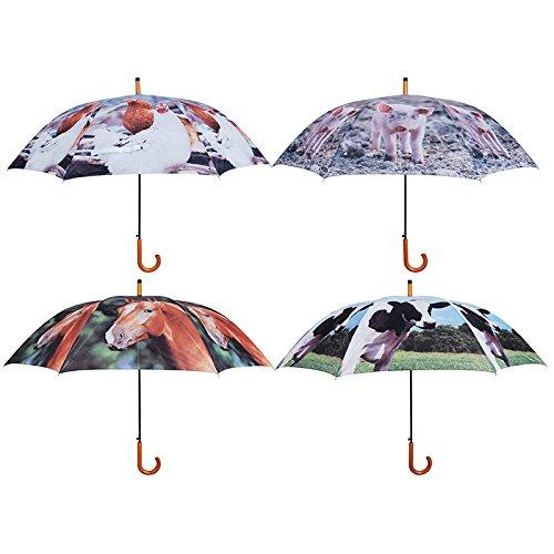 Esschert Design TP137 Umbrella Farm Animals, Assorted