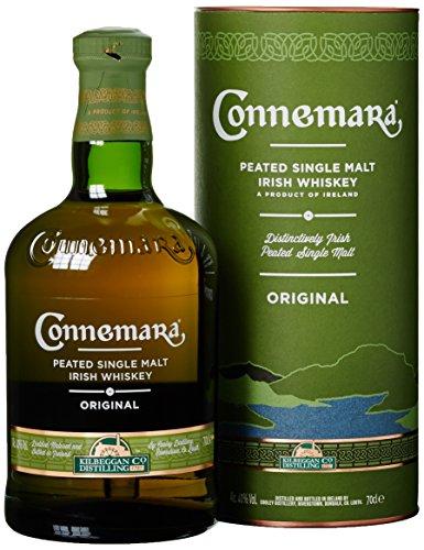 Connemara getorfter Single Malt Irish Whisky, mit Geschenkverpackung, mit rauchigen Aromen, 40% Vol, 1 x 0,7l