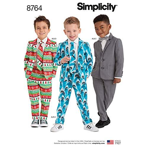 Simplicity 8764 Schnittmuster für Jungen, 4-teilig, Größen 3–8