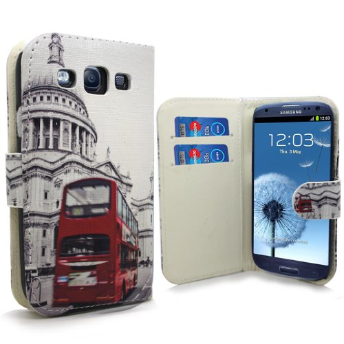 Accessory Master 5055716365924 London bus Design Boek PU Leather Case voor Samsung Galaxy S III i9300