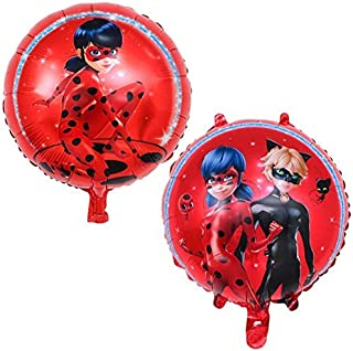 Astra Gourmet 2pcs Ladybug Foil Balloons Set - Ladybug Party Decorations Supplies Ladybug Balloons for Girls Birthday Party Baby Shower