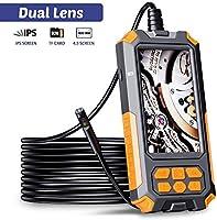 ILIHOME Dual Kameras Endoskopkamera, Doppelkamera Dual Lens 4,5 Zoll IPS Bildschirm Endoskop, 8+1 Einstellbaren LED-Licht...