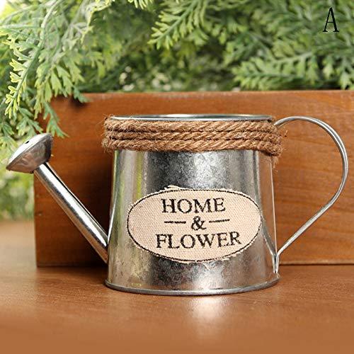 Bloempotten & Planters - Vintage Retro Metaal Ijzer Bloem Water Barrel Succulente Pot Plant Emmer Photo Props Home - Pot Barrel Decor Porselein Pot Grote Bloem Pot Bloem Wijnemmer & BUC A