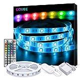 LED Strip Lichterkette, Govee 5m RGB Farbänderung LED Streifen Lichtband Selbstklebend mit Fernbedienung und Controller für Zuhause, Schlafzimmer,...