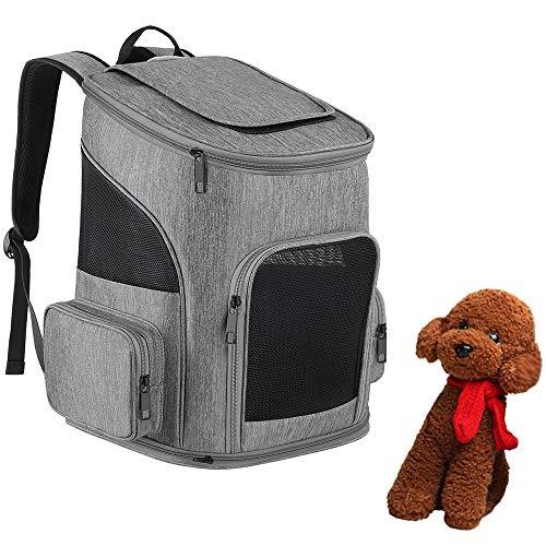WXQY Faltbare Haustier-Tasche, Hundeträger-Rucksack-Haustier-Träger-Taschen-Maschen-Welpen-Rucksack-Träger-Tragbare Reise-Taschen-Gehende Reise im Freien