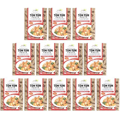 チブギス オーガニック トムヤム ペースト(コブミカンの葉付き)【お得に100g x 12個セット】有機JAS認定/グルテンフリー/ヴィーガン CIVGIS Organic Tom Yum Paste [ Organic Glutenfree Vegan