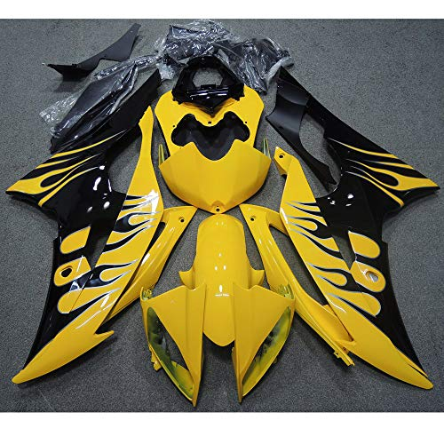 ZXMOTO Motorcycle Yellow & Black Painted With Graphic Fairing Kit for Yamaha YZF R6 2008-2016 2009 2010 2011 2012 2013 2014 2015