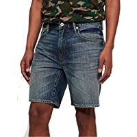 SUPERDRY Conor Taper Short Shorts Hommes Azul - DE 44 (US 34) - Shorts/Bermudas