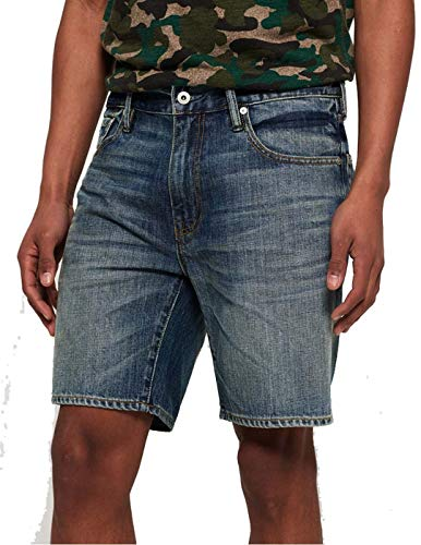 SUPERDRY Conor Taper Short Shorts Hommes Azul - DE 44 (US 34) - Shorts/Bermudas