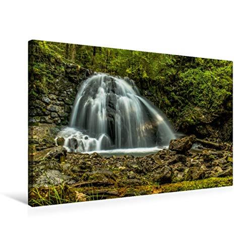 CALVENDO Premium Textil-Leinwand 75 x 50 cm Quer-Format Wasserfall bei Oberstdorf, Leinwanddruck von Wenki