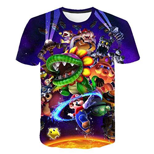 Los últimos Juegos clásicos de Harajuku Super Mario Kid Camiseta Hombre/Mujer Super Smash Bros Camiseta con Estampado 3D Hip Hop Camiseta Streetwear Tops