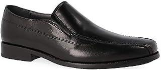 f281c6b9 Zapatos Mocasin Vestir Hombre de la Marca LUISETTI en Piel Cabra Negro,  elásticos en Pala
