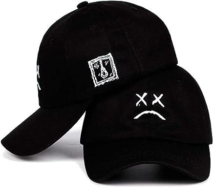 f21e2051c5925 Lil Peep Dad Hat Embroidery 100% Cotton Baseball Cap Sad face Hat Hip Hop  Cap