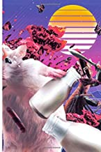Cat vs Hamster 80s Retro-futurism Cyberpunk Journal Notebook
