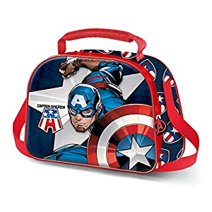 KARACTERMANIA Capitán América Guard-Bolsa Portameriendas 3D, Multicolor