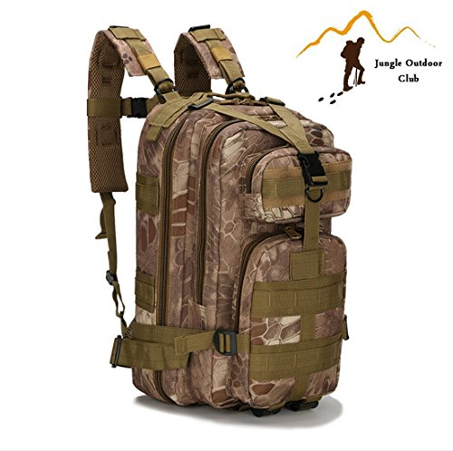 Jungle Field 3P Sac 30L Molle Attack Lot militaire Sac à dos randonnée Camping escalade loisir Cyclisme tactique Sac à dos, Jungle Python