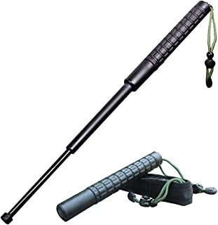 Easy to Carry and Protect Safety Expandable Defense Self Escape Baton,Outdoor Convenient Collapsible Baton with Anti-Slip Rope for Self Protection Defense