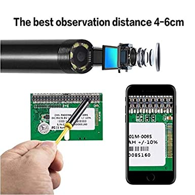 2.0 MP HD/Camera with 8 LEDs for Android Smartphone and Windows Devices KALULI USB Inspection Camera Endoscope Type C Borescope 11.5FT