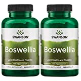 Swanson Boswellia - Herbal Supplement Promoting Joint Support - Ayurvedic Herb for Joint Flexibility and Mobility Support - Made with Boswellia Serrata Resin - (100 Capsules, 400mg Each) 2 Pack