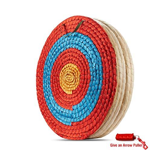 KAINOKAI - Objetivo tradicional hecho a mano para tiro de arco con flecha, flechas para arco recurvo o arco compuesto, A:Traditional Target DIA Φ:19.7in / 5 layers
