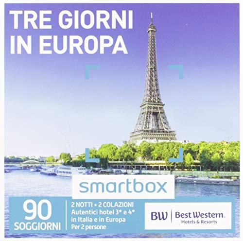 Smartbox - Tre Giorni In Europa - 90 Soggiorni In Hotel Best Western, Cofanetto Regalo