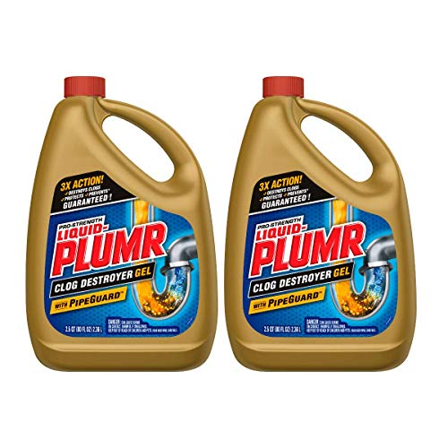 Liquid-Plumr Pro-Strength Full Clog Destroyer Plus PipeGuard (80 fl oz